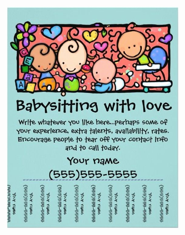 Puppy for Sale Flyer Templates Awesome Best 20 Babysitting Flyers Ideas On Pinterest