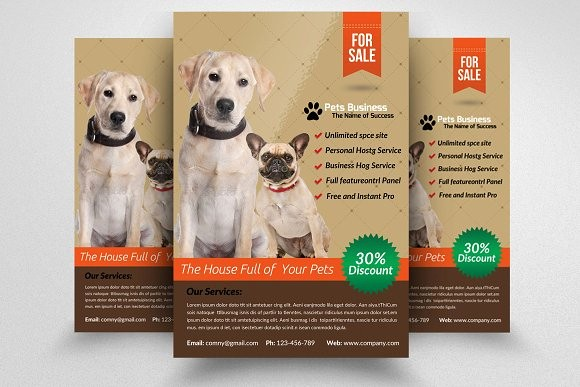 Puppy for Sale Flyer Templates Awesome Pet Shop Business Flyer Template Templates with Pet Store