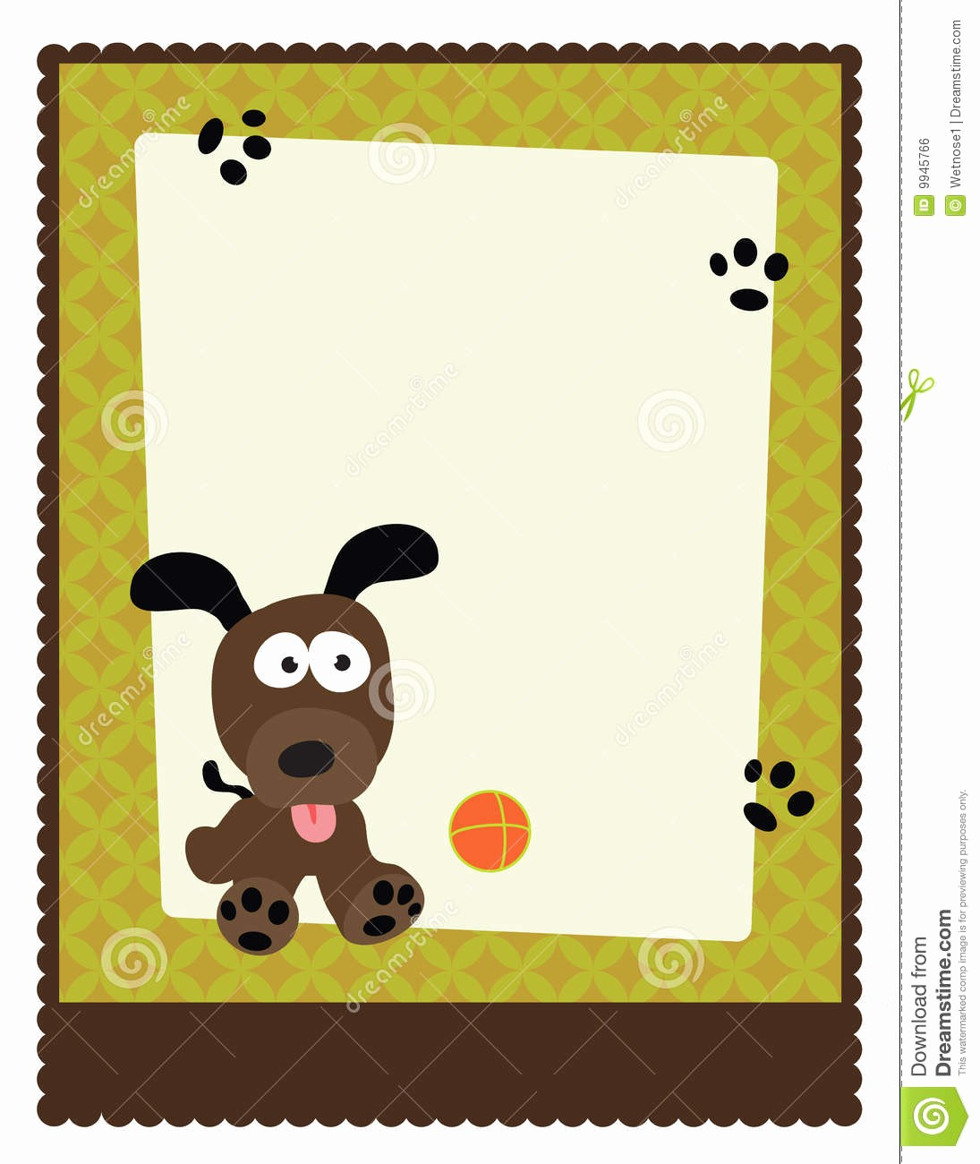 Puppy for Sale Flyer Templates Beautiful 8 5x11 Flyer Poster Template Stock Vector Image