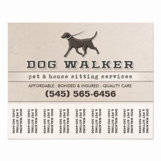 Puppy for Sale Flyer Templates Elegant Dog Walker & Pet Sitting Tear F Flyer 5 6 X 4 5
