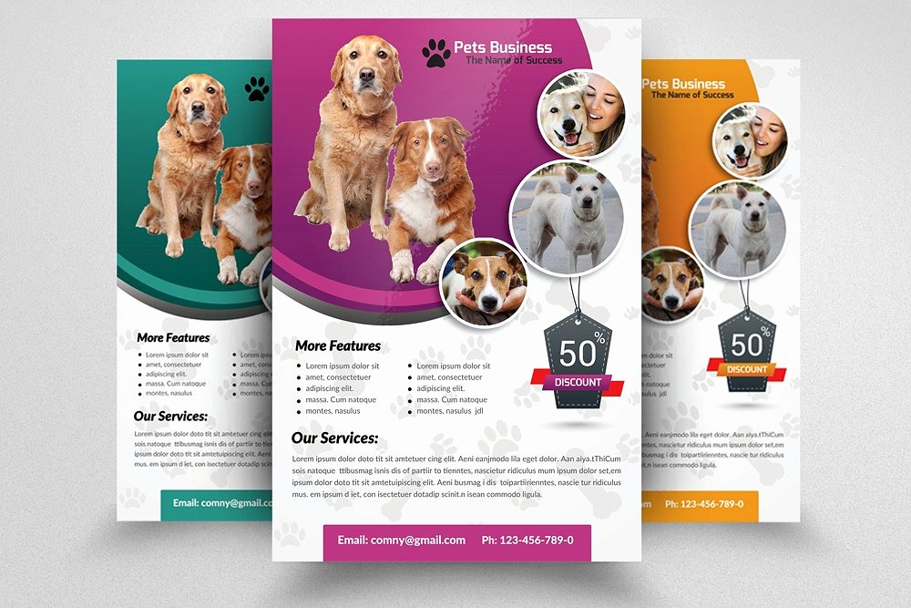 Puppy for Sale Flyer Templates Elegant Pet Shop Business Flyer Template Flyer Templates