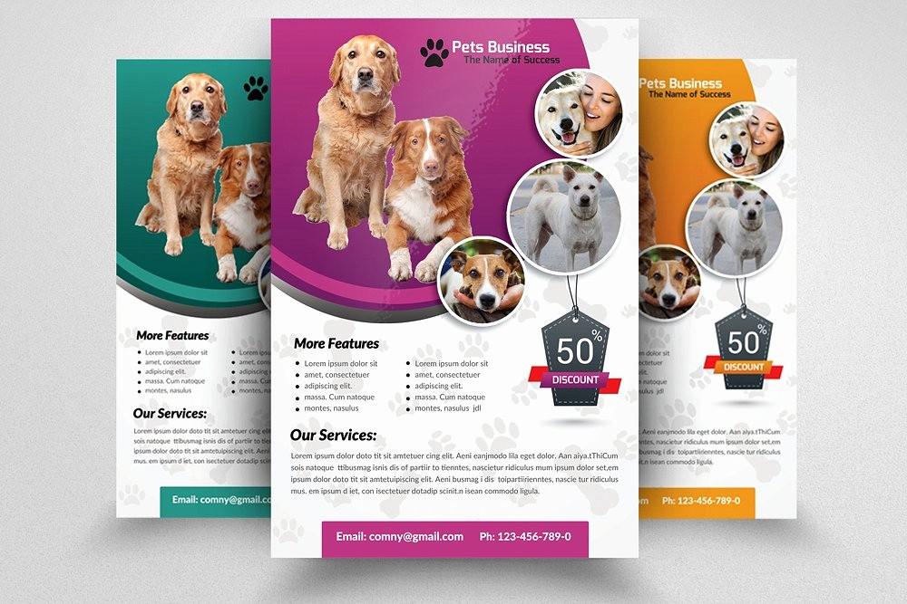 Puppy for Sale Flyer Templates Elegant Pet Shop Business Flyer Template Flyer Templates
