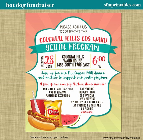 Puppy for Sale Flyer Templates Unique Hot Dog Fundraiser Dinner Bbq Invitation Poster Spring