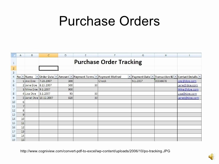 Purchase order Tracking Excel Sheet Inspirational Introto Excel