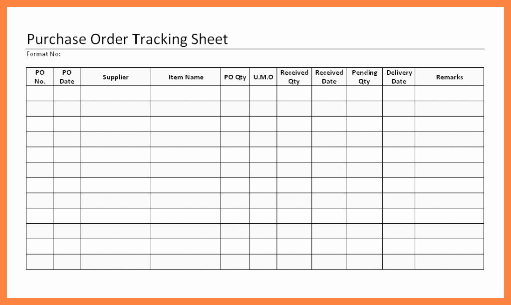 Purchase order Tracking Excel Sheet Lovely order Tracking Spreadsheet Template Csserwis