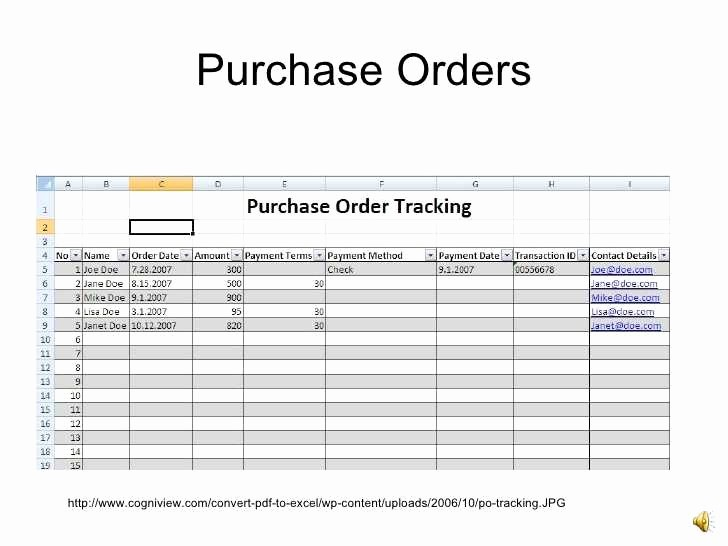 Purchase order Tracking Excel Spreadsheet Lovely Purchase order Tracking Excel Spreadsheet Luxury Purchase