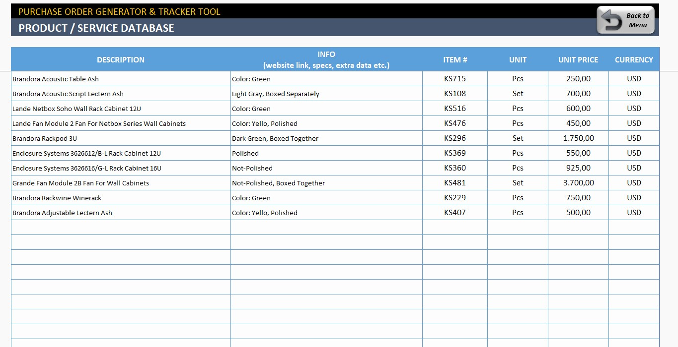 Purchase order Tracking Excel Spreadsheet New Purchase order Tracking Excel Spreadsheet – Spreadsheet
