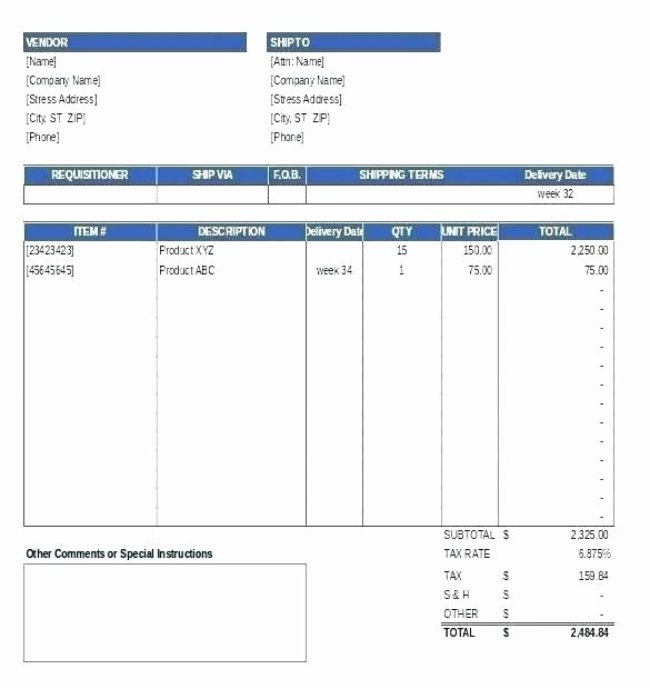 Purchase order Tracking Excel Spreadsheet Unique Purchase order Tracking Template Xls Spreadsheet
