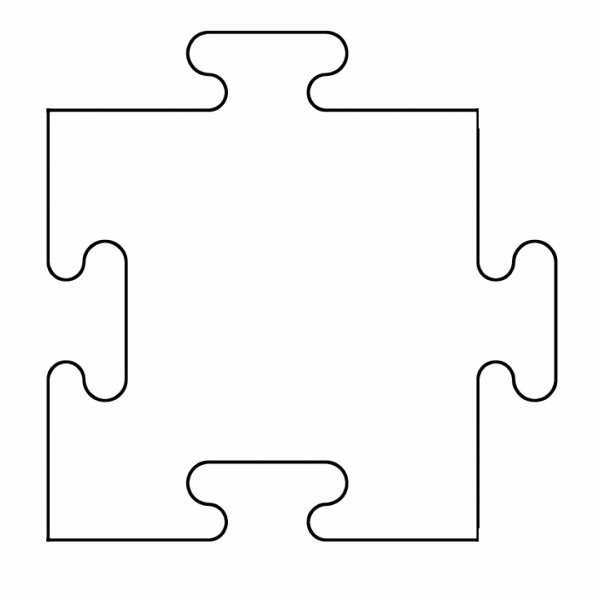 Puzzle Pieces Template for Word Beautiful Printable Puzzle Piece Template Clipart Best