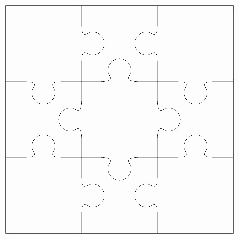 12 puzzle pieces template