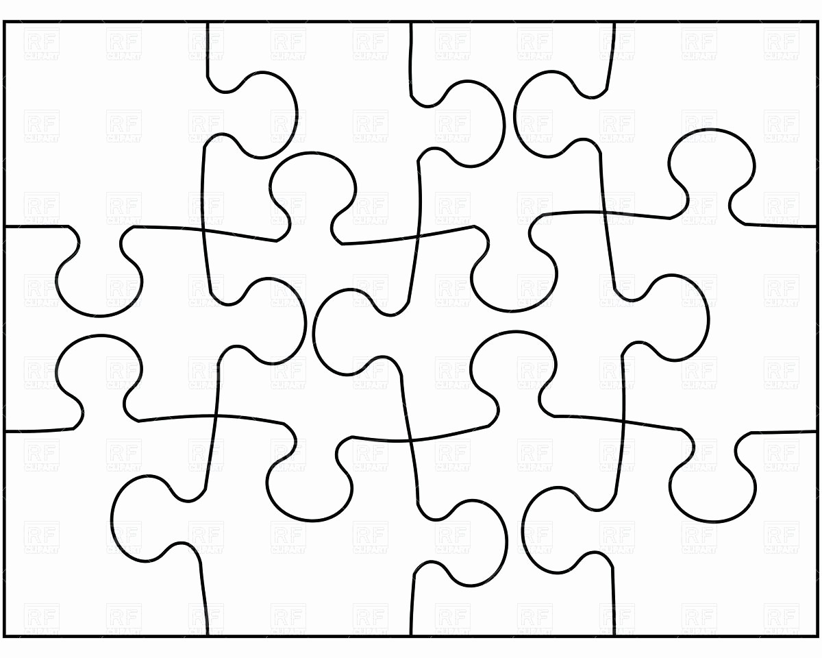 Puzzle Pieces Template for Word Elegant Template 2 Piece Puzzle Template
