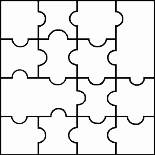 Puzzle Pieces Template for Word Fresh Blank Jigsaw Templates Clipart Best
