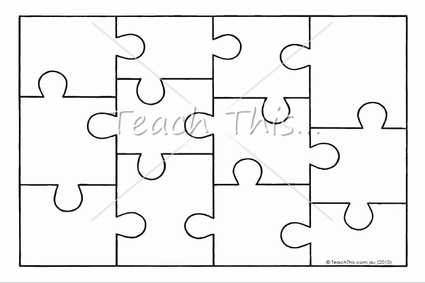 Puzzle Pieces Template for Word Fresh Puzzle Template Beepmunk