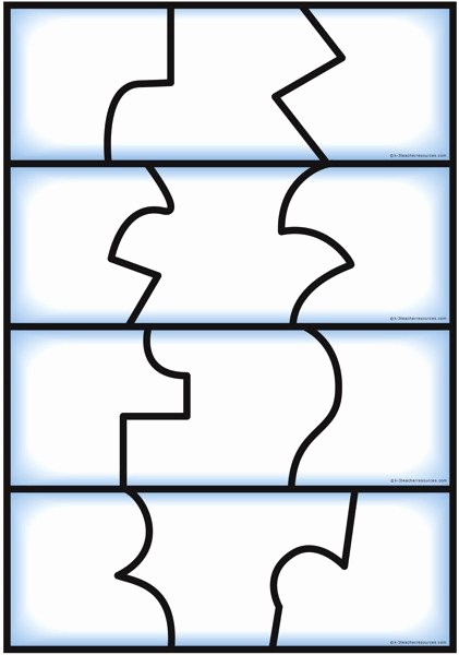 Puzzle Pieces Template for Word Fresh Self Correcting Editable Puzzle Templates
