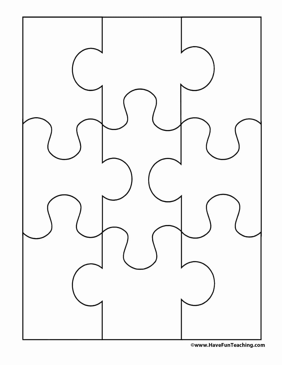 Puzzle Pieces Template for Word Lovely 19 Printable Puzzle Piece Templates Template Lab