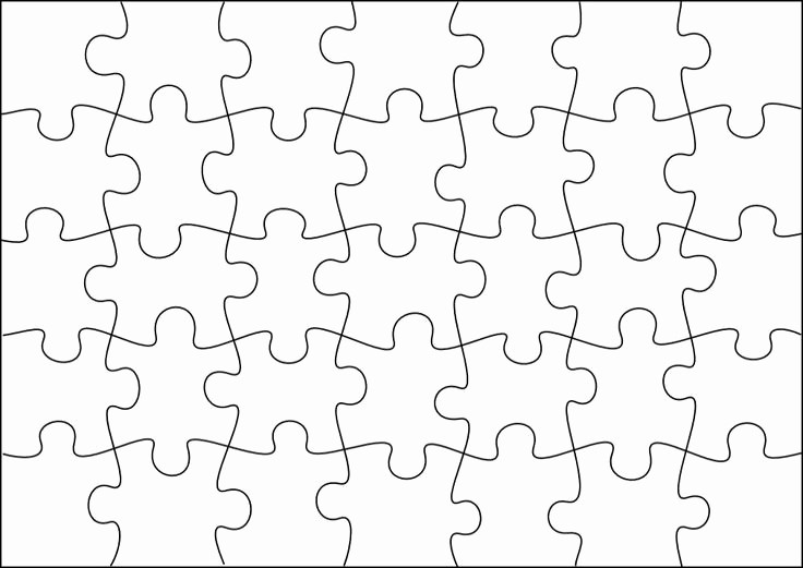 Puzzle Pieces Template for Word Lovely Jigsaw Puzzle Template