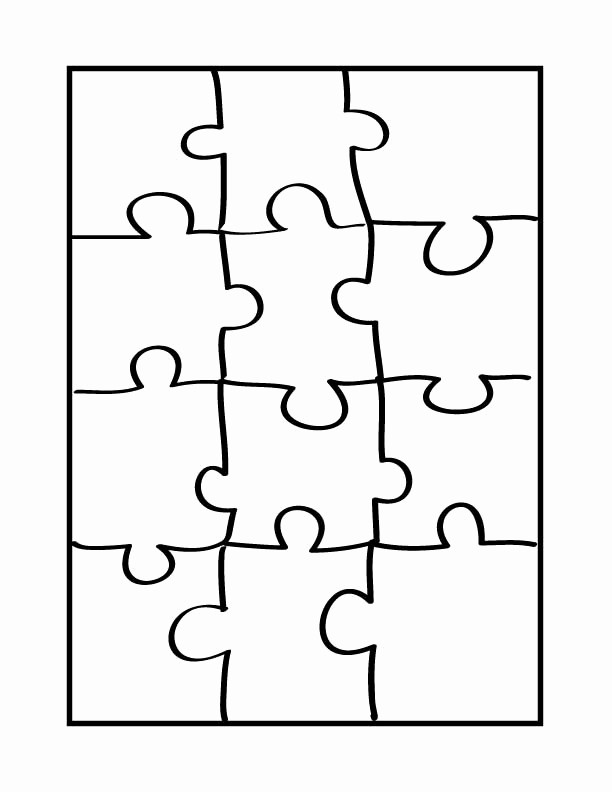 Puzzle Pieces Template for Word Lovely Puzzle Coloring Page Coloring Home