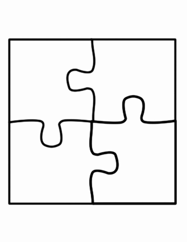 Puzzle Pieces Template for Word Luxury Puzzle Piece Template On Pinterest