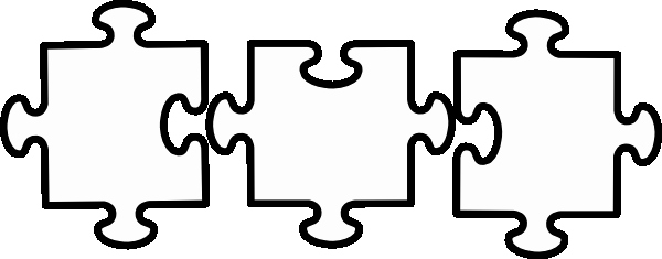 Puzzle Pieces Template for Word New Black and White Jigsaw Clip Art at Clker Vector Clip