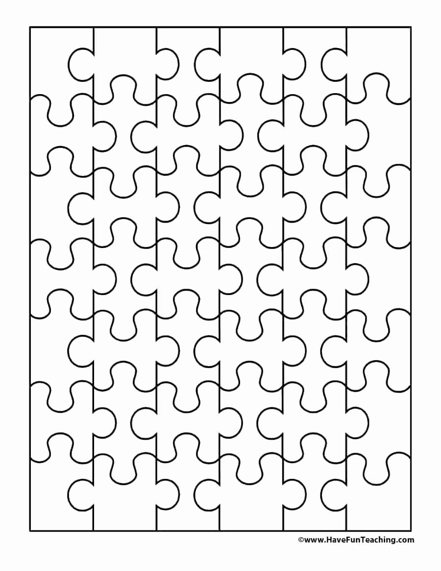 Puzzle Pieces Template for Word Unique Printable Jigsaw Template