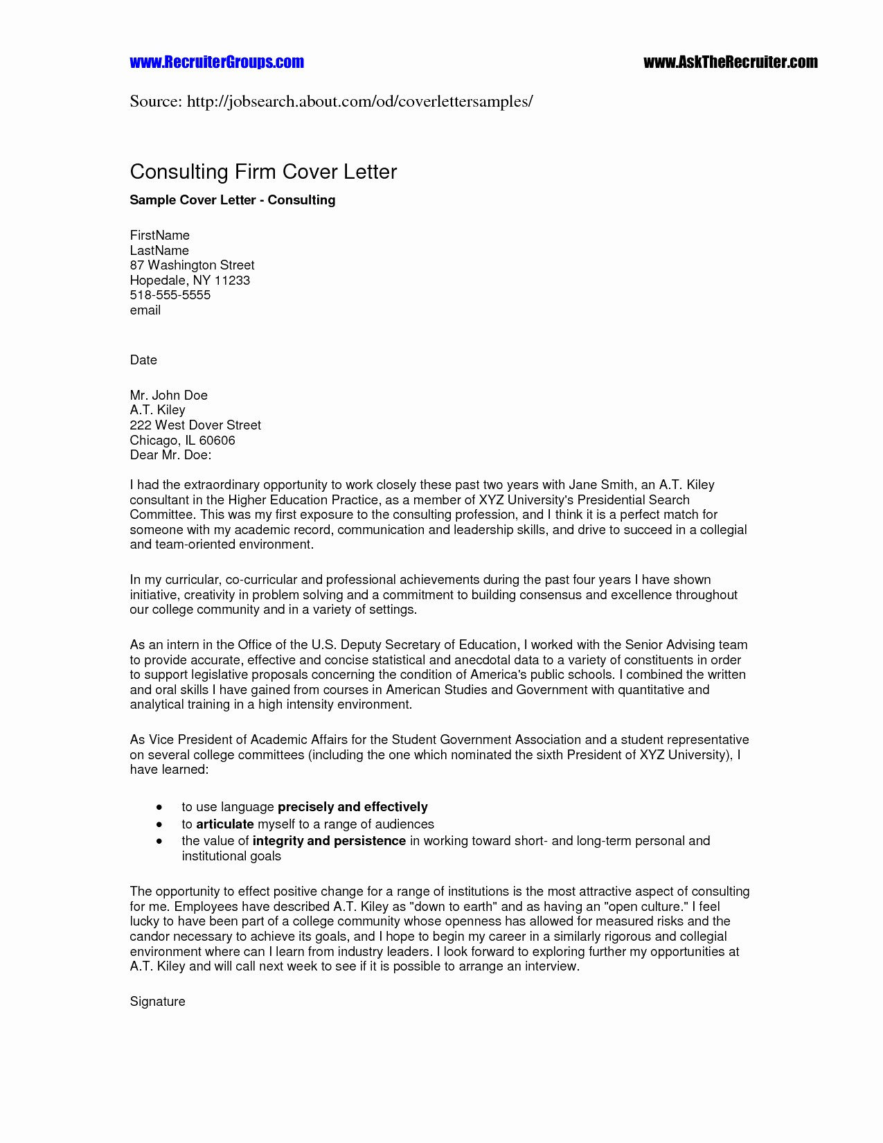 Quick and Easy Cover Letters Best Of Quick Easy Cover Letter Template Gallery