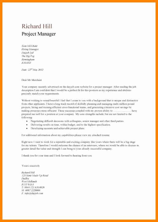 Quick and Easy Cover Letters Luxury 12 Easy Cover Letter Examples