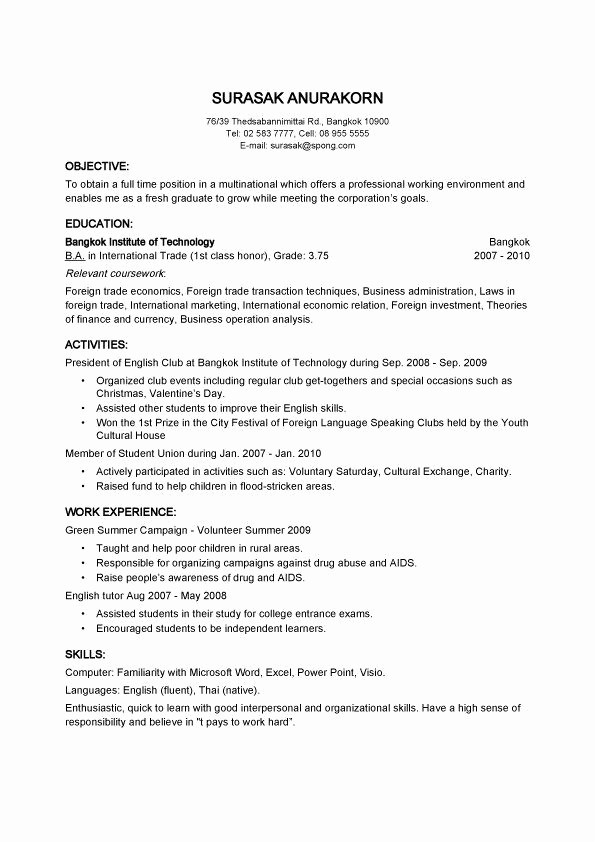 Quick and Easy Cover Letters New Quick and Easy Resume Best Resume Collection