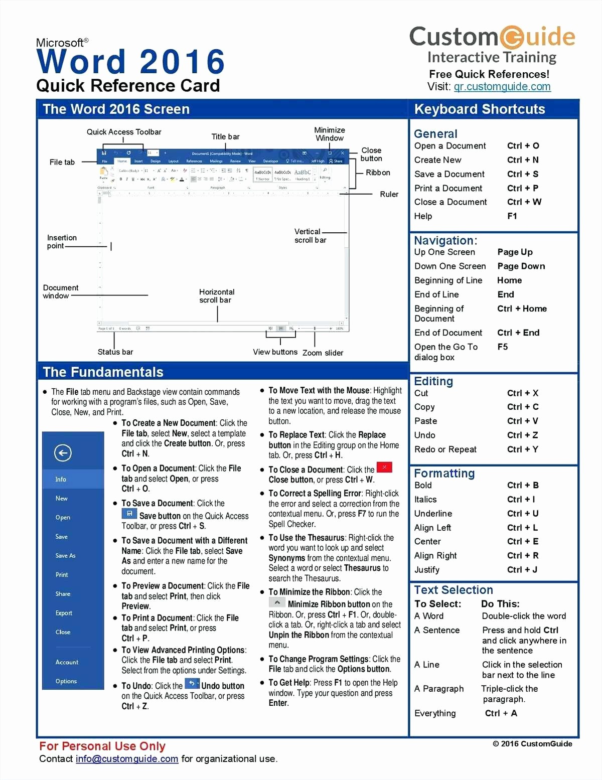 Quick Reference Card Template Word Beautiful Quick Reference Guide Template