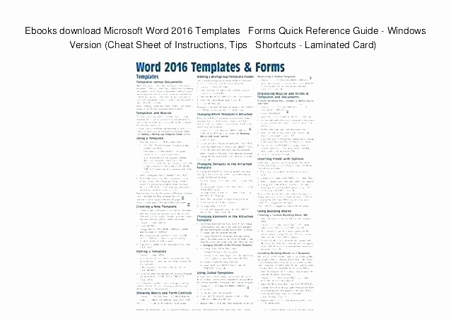Quick Reference Card Template Word Elegant Reference Card Template