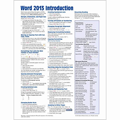 Quick Reference Card Template Word Lovely Excel Cheat Sheet Amazon