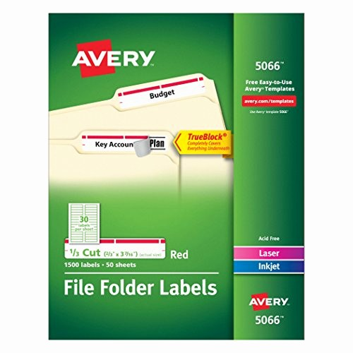 Quill Laser Address Labels Template Awesome Avery Red File Folder Labels for Laser and Inkjet Printers