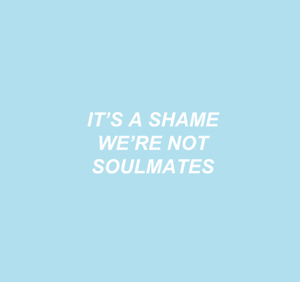 Quotes with the Word Blue Elegant Pastel All Caps Lyrics Word