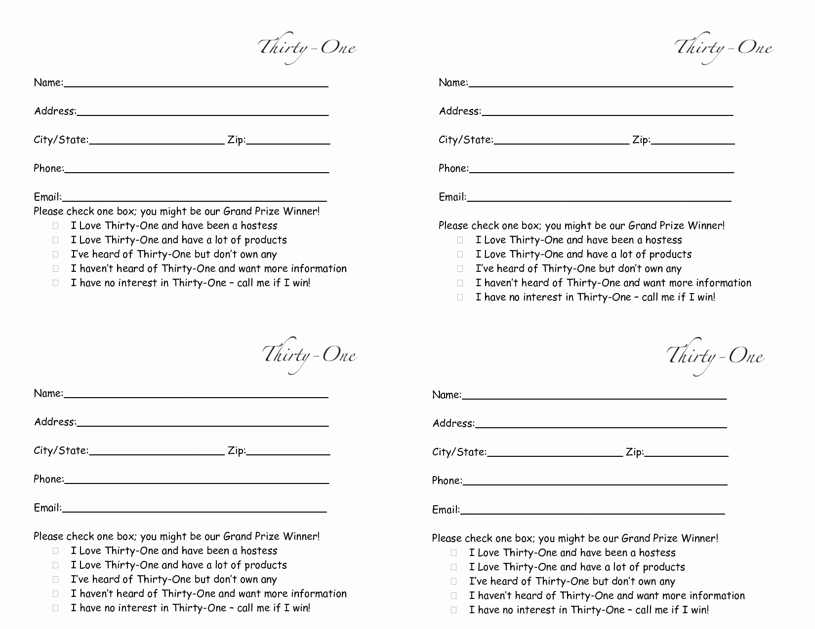 Raffle Entry form Template Word Elegant Thirty E Door Prize form Drawing Slips 4 Per Page