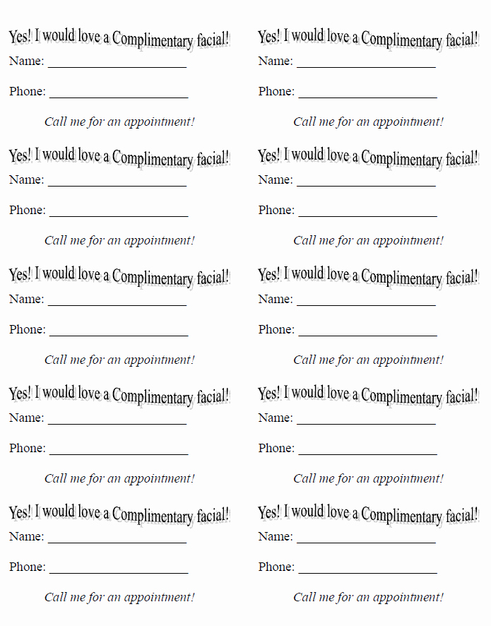 Raffle Entry form Template Word Inspirational Mary Kay Drawing Slips Template