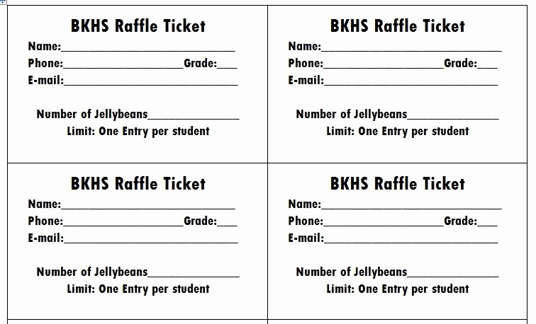 Raffle Entry form Template Word Lovely Raffle Ticket Template