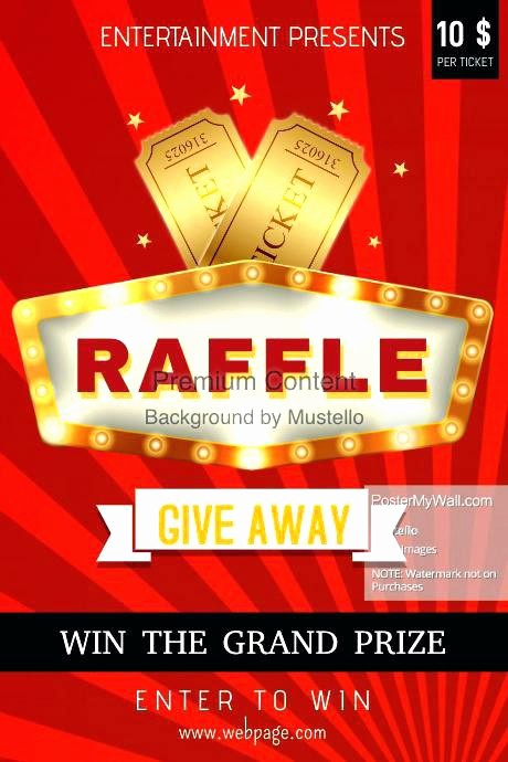Raffle Flyer Templates Free Download Fresh Auction Flyer Templates Raffle Ticket Template Literals