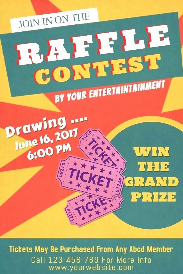 Raffle Flyer Templates Free Download New 94 Fish Fry Ticket Template Free Vintage Paper