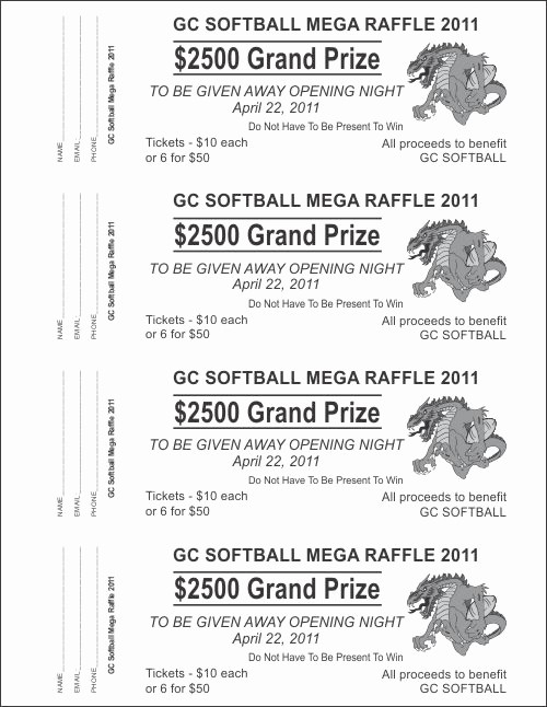 Raffle Ticket Printing Free Template Awesome 6 Best Of Free Printable Raffle Ticket Template
