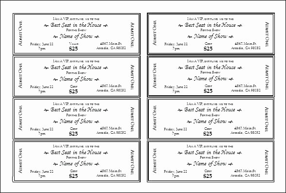 Raffle Ticket Printing Free Template Beautiful Blank Raffle Ticket Tickets Template Free Printable