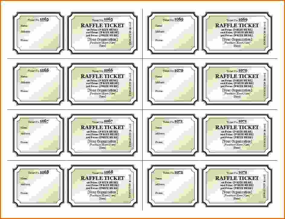 Raffle Ticket Printing Free Template Inspirational 11 Free Printable Raffle Ticket Template