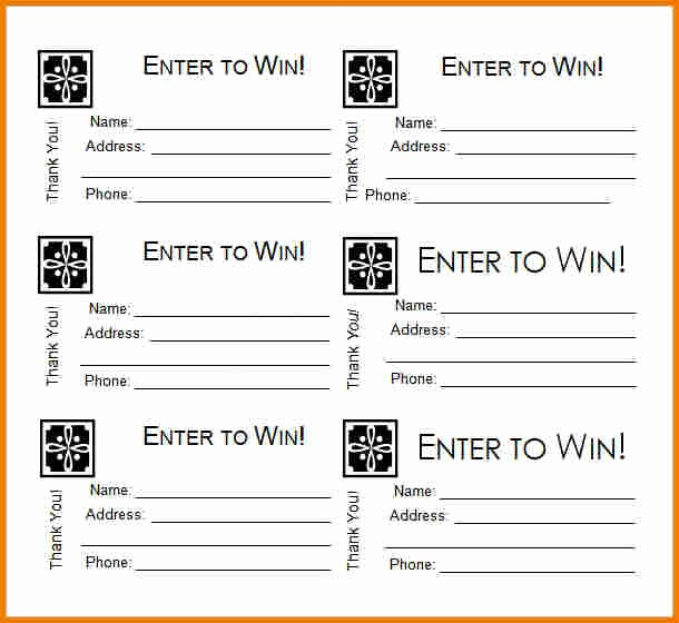 Raffle Ticket Printing Free Template Inspirational Free Printable Raffle Ticket Template