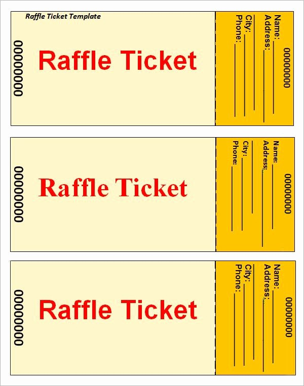 Raffle Ticket Printing Free Template Lovely Raffle Ticket Template …