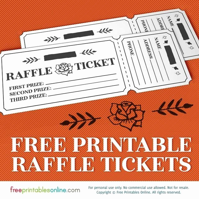 Raffle Ticket Printing Free Template Luxury Printable Rosy Raffle Tickets Free Raffle Template Free