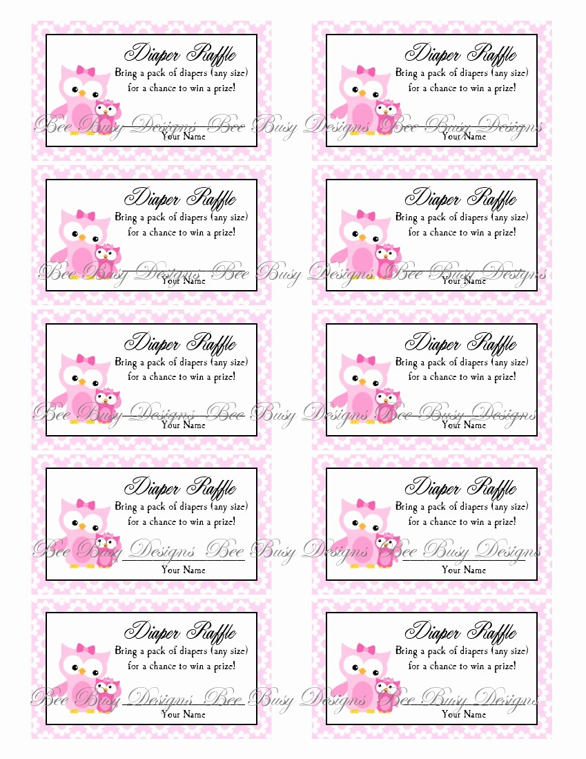 Raffle Ticket Printing Free Template Unique 9 Best Of Diaper Raffle Free Printables Free