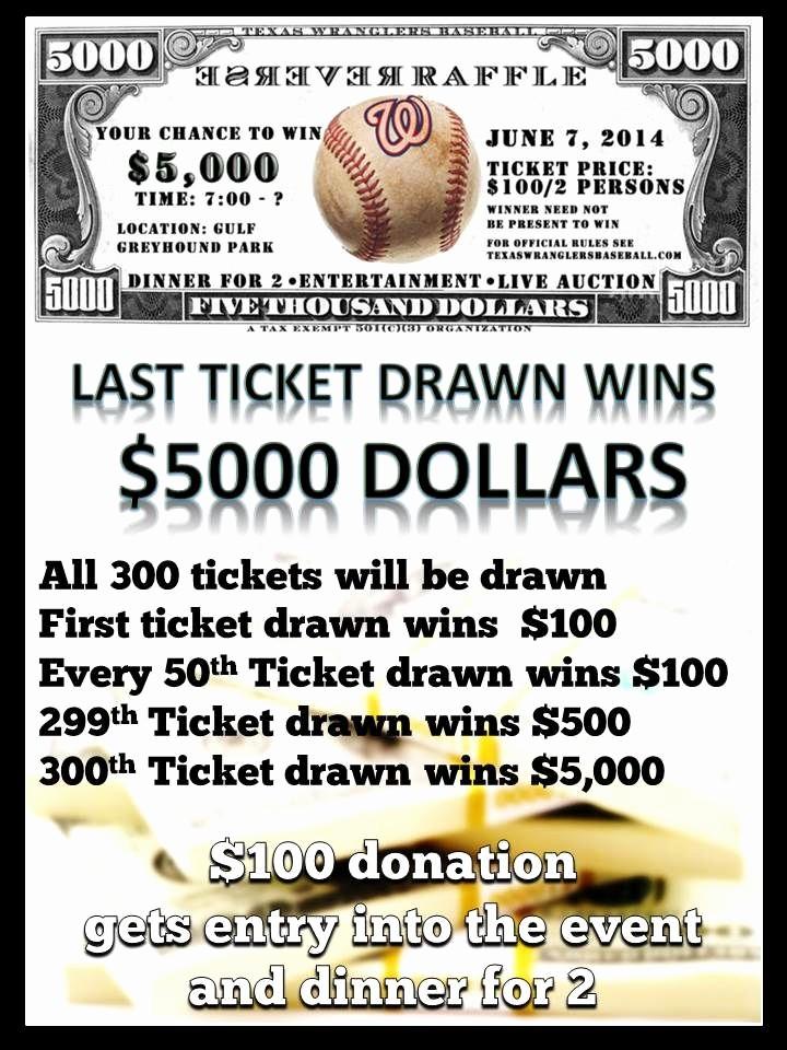 Raffle Ticket Samples for Fundraisers Beautiful Reverse Raffle Flyer 1 Wolf Creek Ideas
