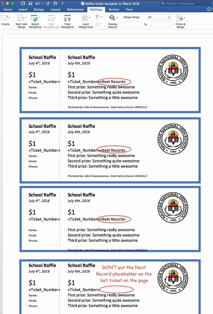 raffle flyer and ticket templates