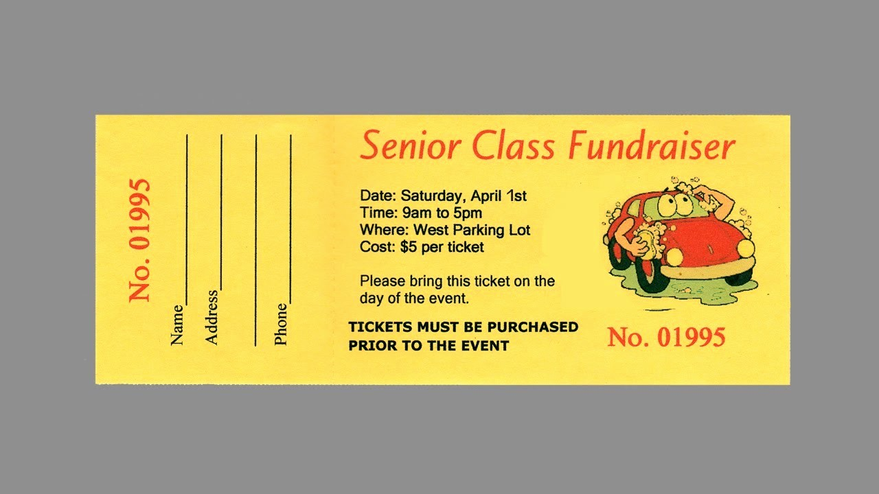 Raffle Ticket Samples for Fundraisers Elegant How to Make Your Own Raffle Tickets Part 2
