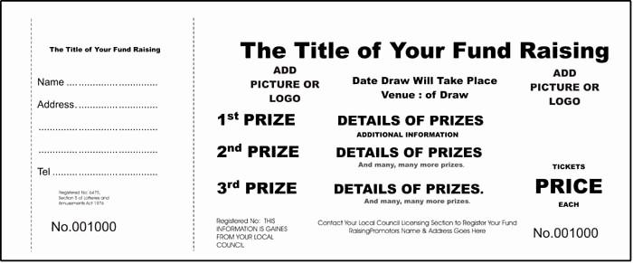 Raffle Ticket Samples for Fundraisers Elegant School Raffle Tickets