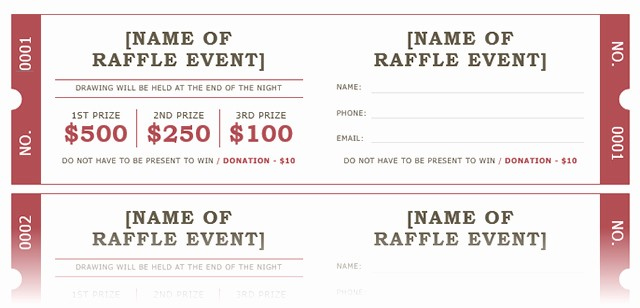 Raffle Ticket Samples for Fundraisers Fresh How to Get A Free Raffle Ticket Template for Microsoft Word