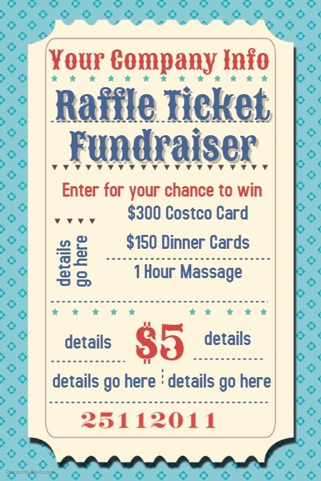 Raffle Ticket Samples for Fundraisers Lovely Raffle Ticket Fundraiser Movie Party Flyer Poster Template